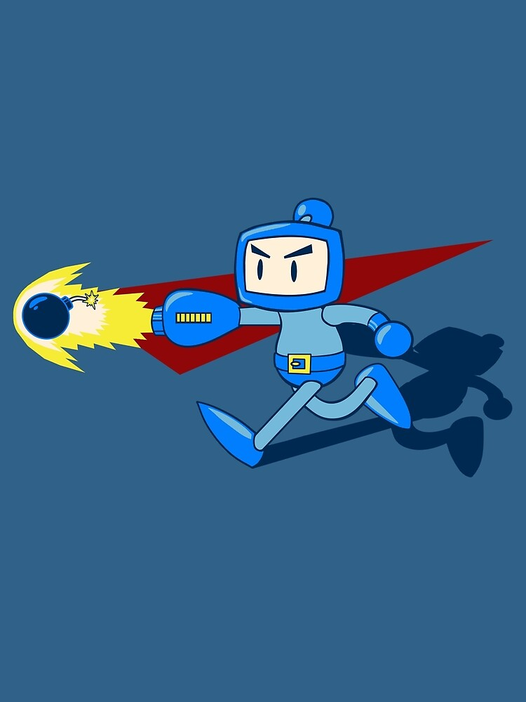 The Blue Bomber (man) by paintspowerups