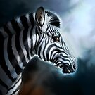 Moonlit Zebra by Pip Abraham