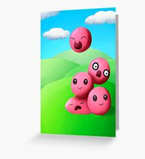 Slime Rancher Pink Slime Stack Greeting Card