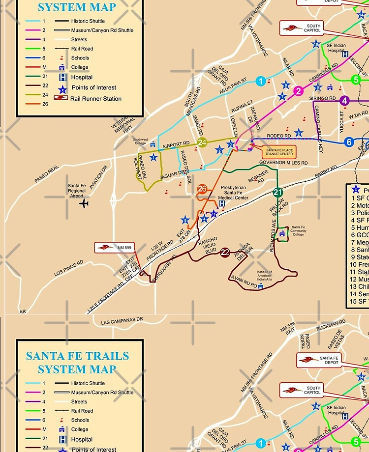 Santa Fe System Map - USA | iPad Case & Skin on paris museums map, contact us map, espanola map, clayton ok map, shopping map, philadelphia museums map, boston museums map, chicago museums map,