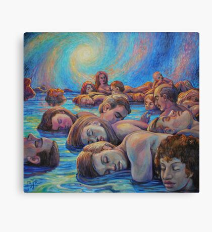 Asleep in A Dream of Life Canvas Print