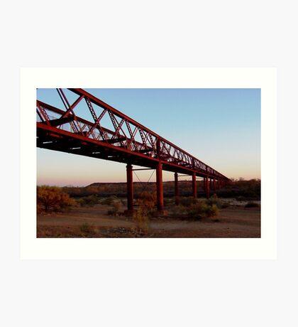 Algebuckina Bridge (Old Ghan Line), South Australia Art Print
