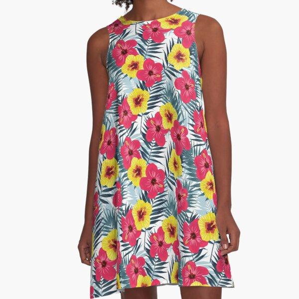 Gumamela Tropical A-Line Dress