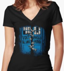 The walking Angels Women's Fitted V-Neck T-Shirt