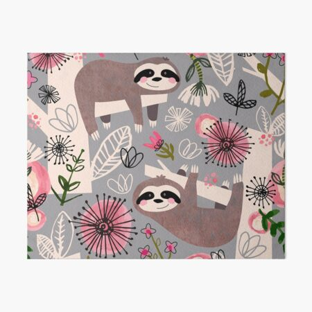 Lovable Sloths Art Board Print