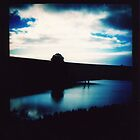 Blue hue - farm dam by Sally McColl