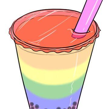 Rainbow Pride Bubble Milk Tea by JNNardacci