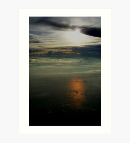 Aerial Sunset (in the Clouds) Art Print