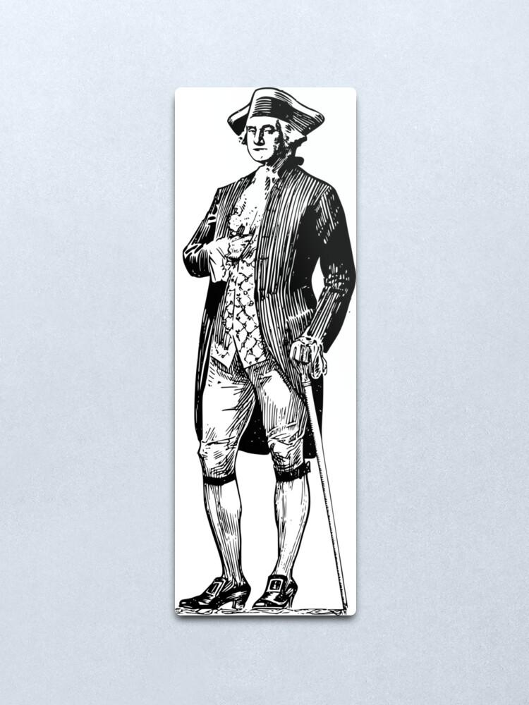 Alternate view of character of george washington Metal Print