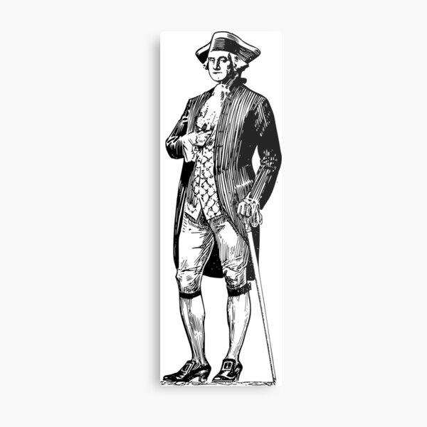 character of george washington Metal Print