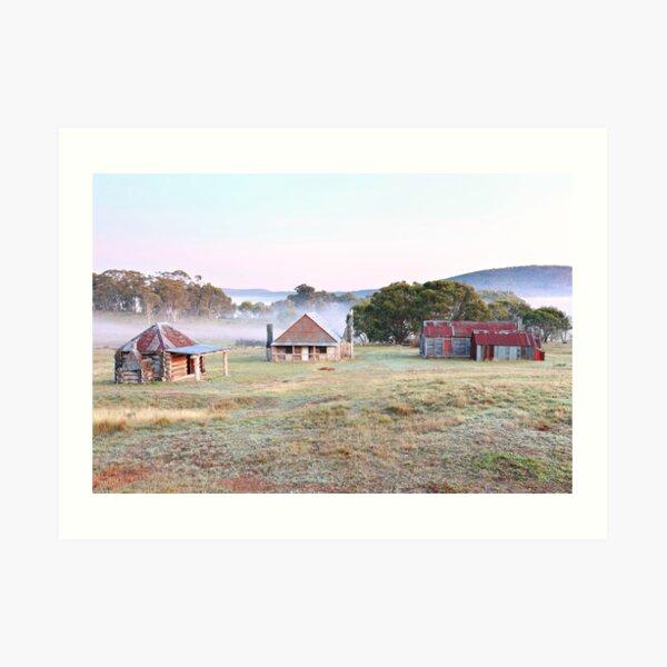 Coolamine Homestead Dawn, Kosciusko National Park, Australia Art Print