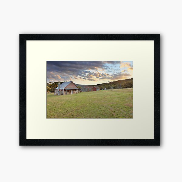 Coolamine Homestead Morning, Kosciusko National Park, Australia Framed Art Print
