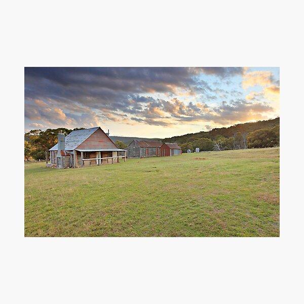 Coolamine Homestead Morning, Kosciusko National Park, Australia Photographic Print