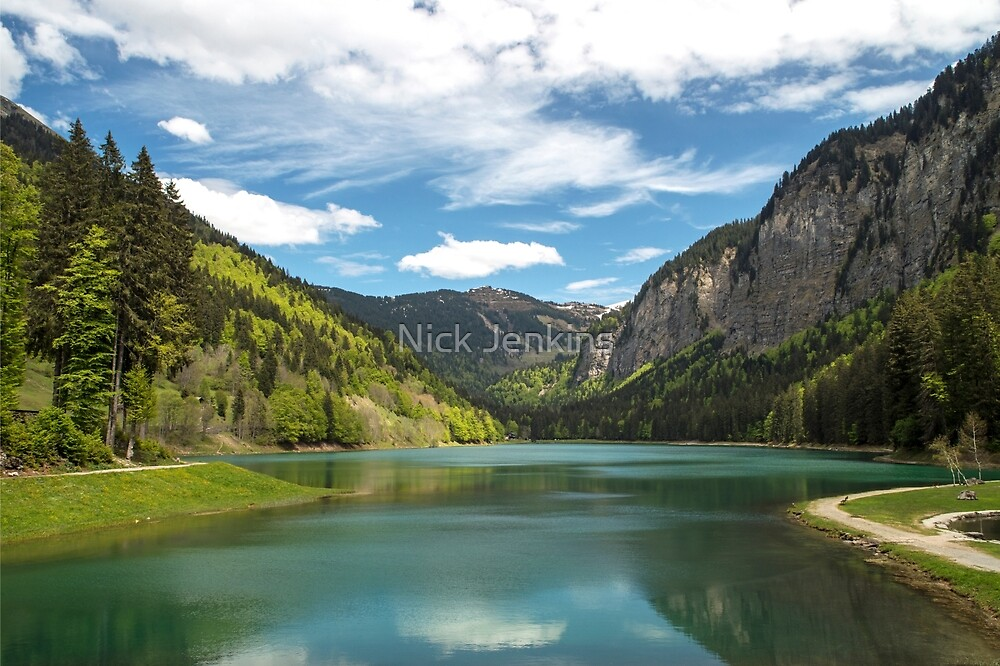 Lac de Montriond French Alps by Nick Jenkins