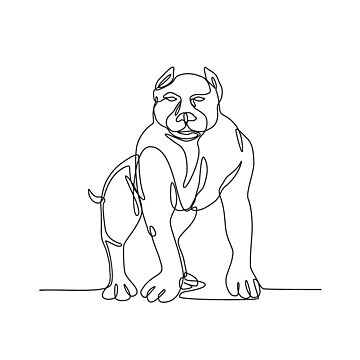American Bully Continuous Line by patrimonio