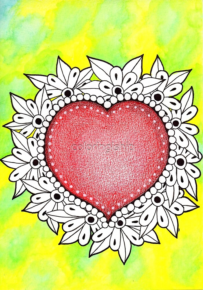 Watercolor Doodle | Heart by coloringiship