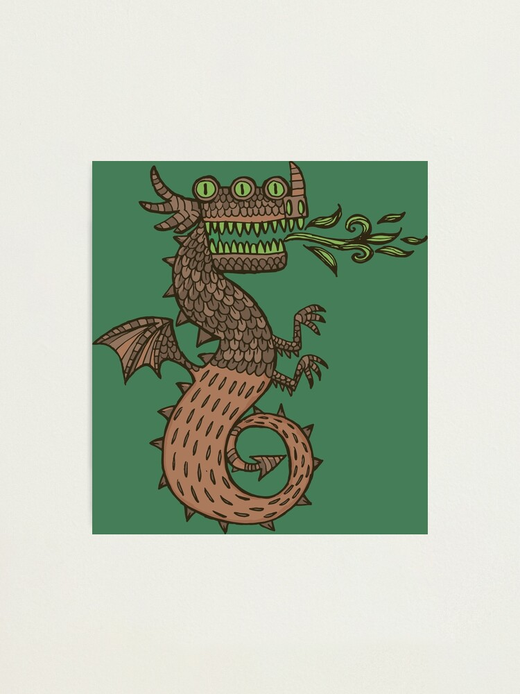 Alternate view of Dragon with three eyes Photographic Print