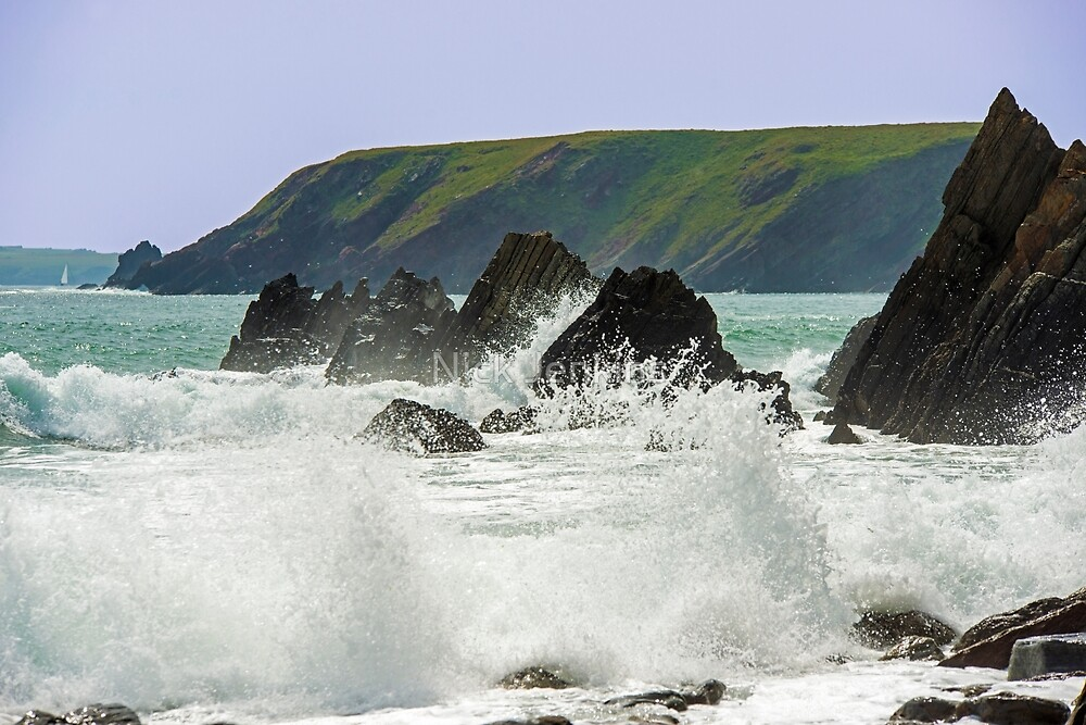 Rough Sea at Marloes by Nick Jenkins
