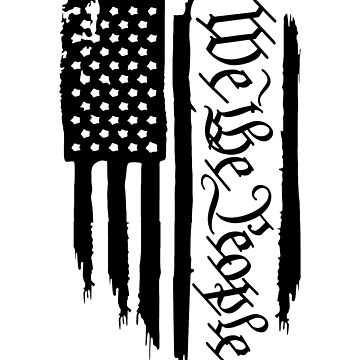 We the People Flag (Black) by MillSociety