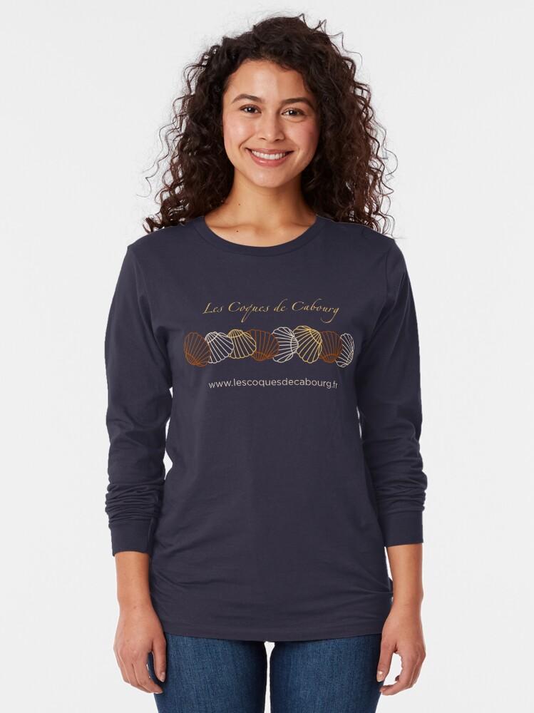 T-shirt manches longues ''Les Coques de Cabourg Officiel': autre vue