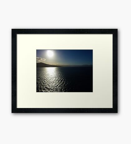 P1030517_Clear_of_the_Otago_Peninsula_Port_Lyttleton_Dunedin_NZ Framed Print