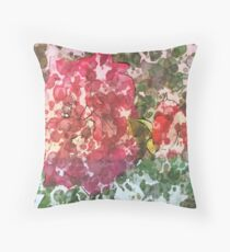 MSFW15-7 DAYS OF SUMMER- DISTRESSED FLORALS/FLOWERS 10 Throw Pillow