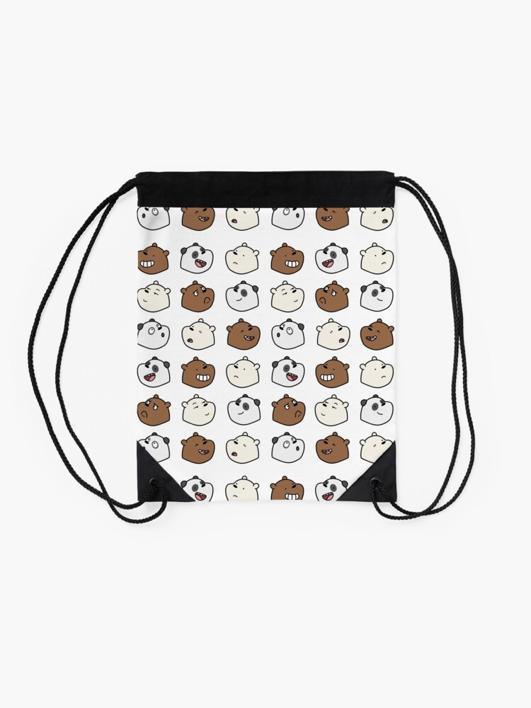 Alternate view of We Bare Bears Drawstring Bag