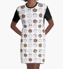 We Bare Bears Graphic T-Shirt Dress