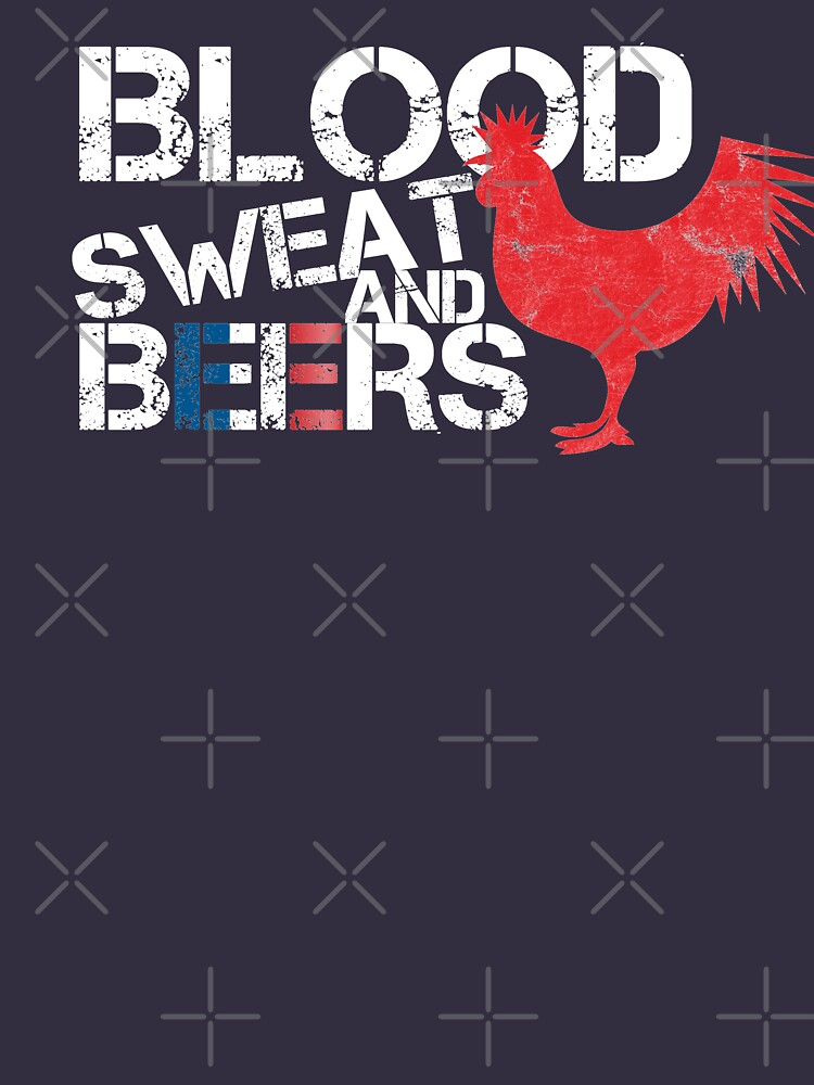 Blood Sweat Beers France Flag Rugby Six Nations by thespottydogg