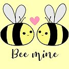 BEE Mine - BE mine - be my valentine - Valentines Pun - Anniversary Pun - Bee Puns - Love - Girlfriend - Boyfriend - Husband - Wife - Partner by JustTheBeginning-x (Tori)