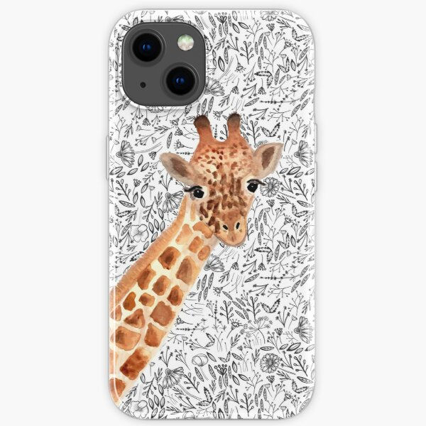 Watercolor Giraffe iPhone Soft Case