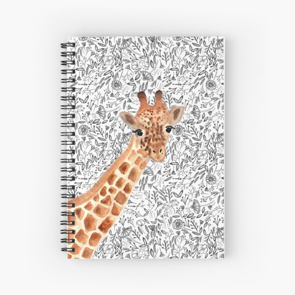 Watercolor Giraffe Spiral Notebook