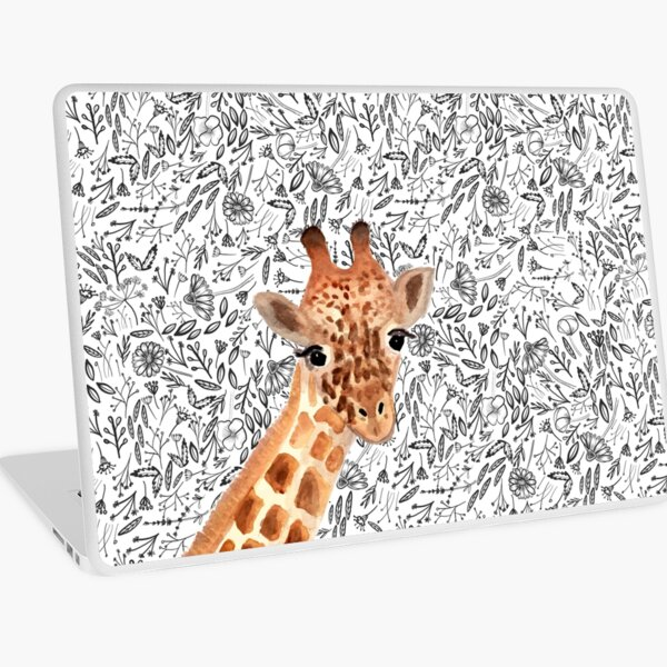 Watercolor Giraffe Laptop Skin