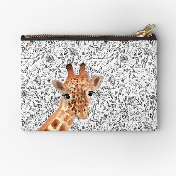 Watercolor Giraffe Zipper Pouch