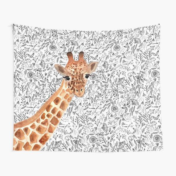 Watercolor Giraffe Tapestry