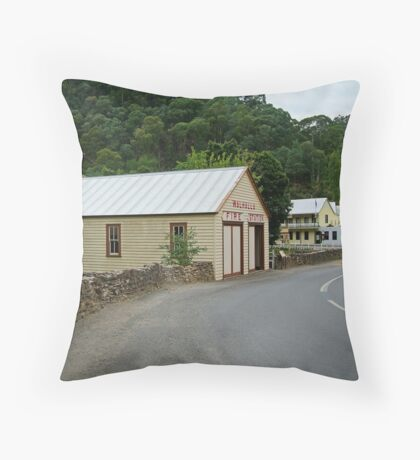 Walhalla,Valley Township Throw Pillow