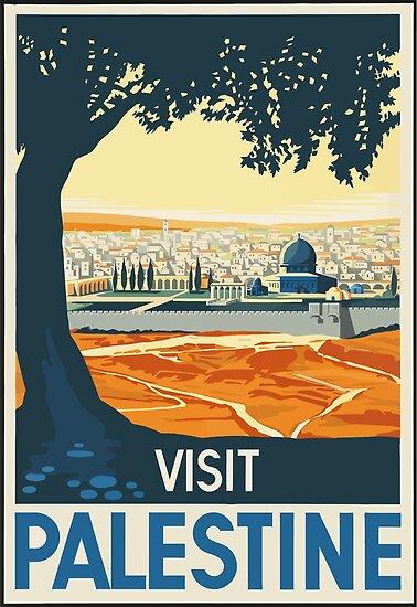 Besuchs-Palästina-Weinlese-Reise-Plakat von vintagetravel