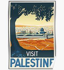 Besuchs-Palästina-Weinlese-Reise-Plakat Poster