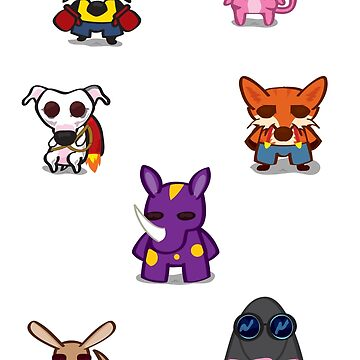 Cute Animal stickers by Roley by RoleyShop