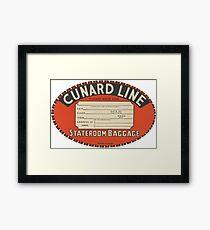 Vintage Luggage Label 1 Framed Print