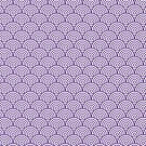 Purple Concentric Circle Pattern by Cool Fun  Awesome Time