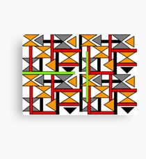 Bright Bold Modern Funky Geometric Abstract Graphic Canvas Print