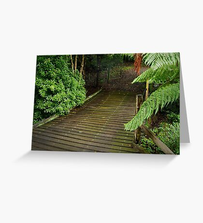 Wooden Bridge, Stringers Creek,Walhalla Greeting Card