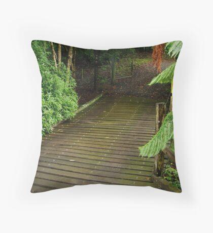Wooden Bridge, Stringers Creek,Walhalla Throw Pillow