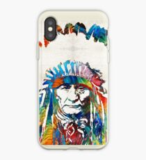 Native American Art - Chief - By Sharon Cummings iPhone Case