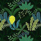 Tropischer Wald nahtlose Muster von owliedesign