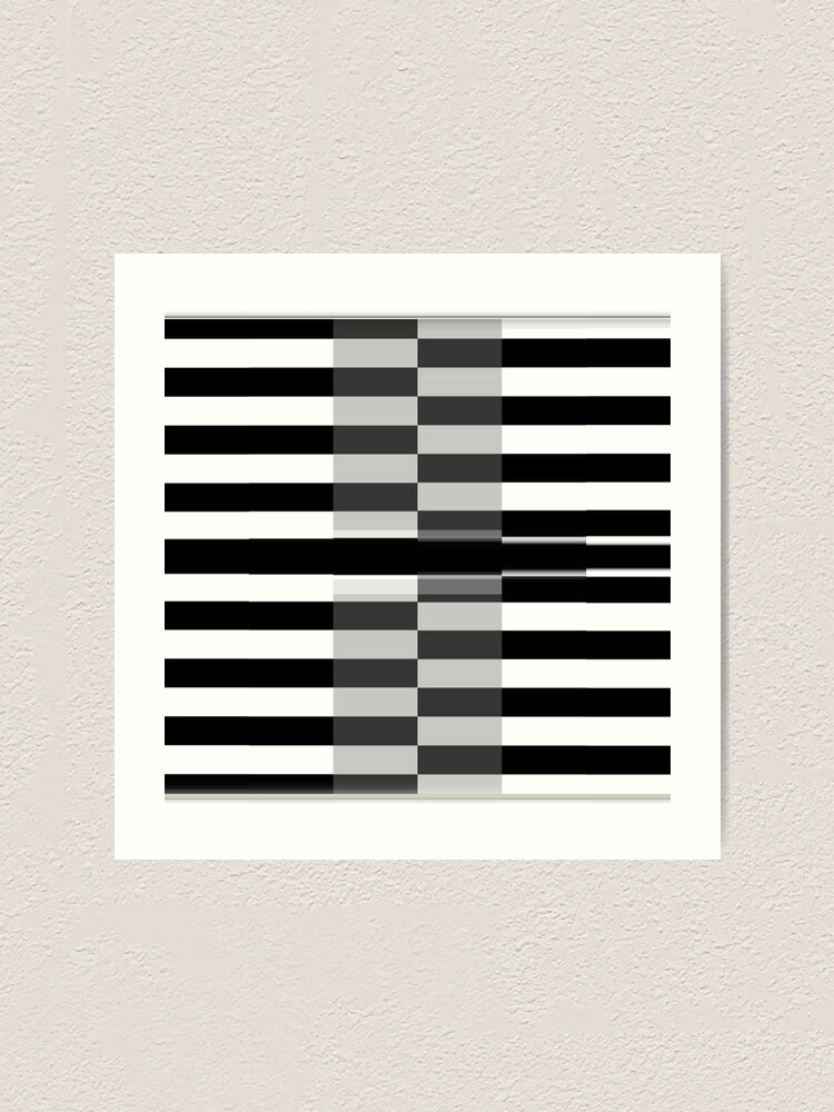 Alternate view of #Line #Pattern #Design #design #piano chess vector striped nopeople classical style square Art Print