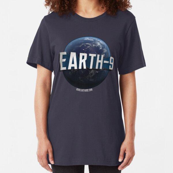 Earth-9 Logo Slim Fit T-Shirt