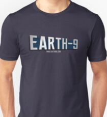Earth 9 Logo words only Unisex T-Shirt