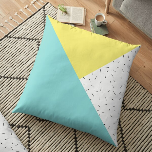 Geometric love Floor Pillow
